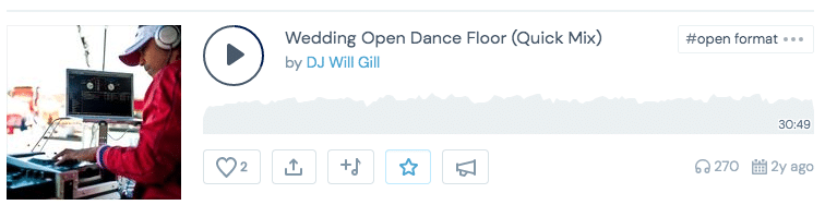 DJ will gill mixcloud wedding mix