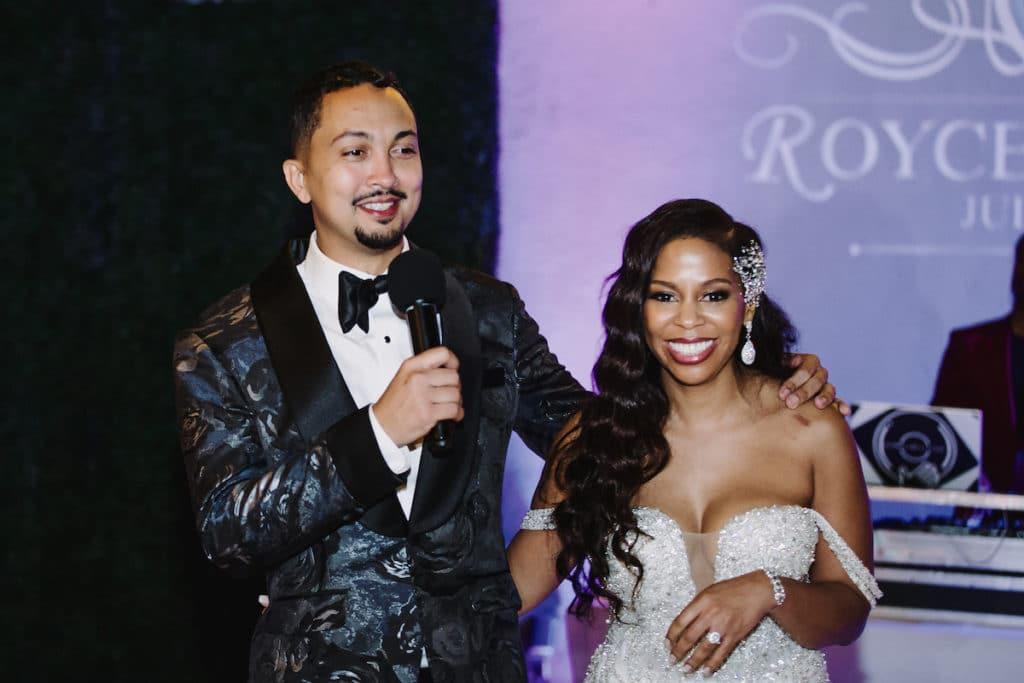 los angeles wedding couple welcome speech