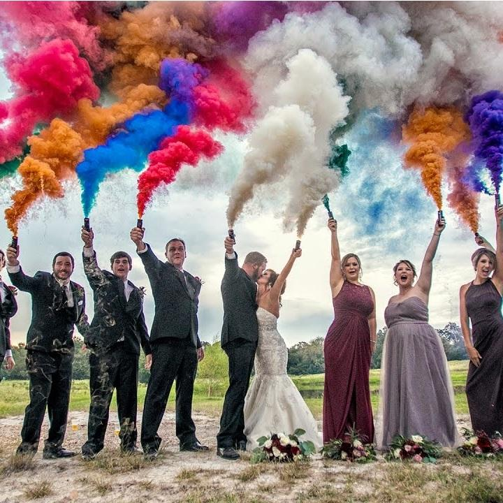wedding djs los angeles smoke bombs