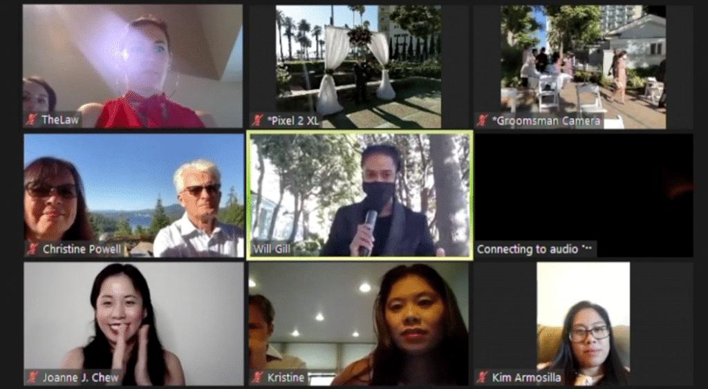Santa Barbara Wedding DJ Virtual Wedding on Zoom