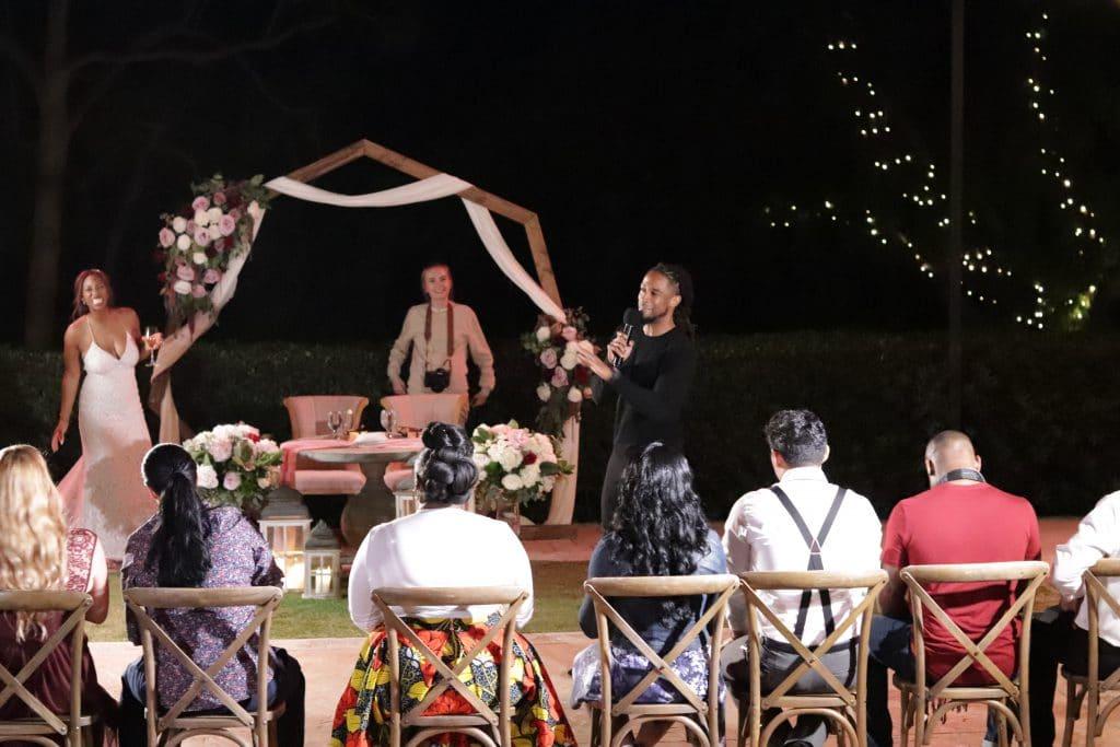 santa barbara wedding DJ playing shoe game