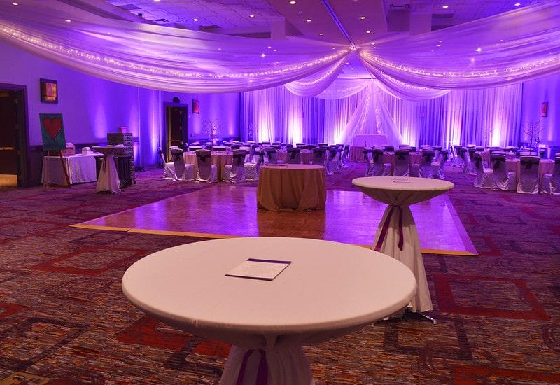 wedding emcee empty wedding venue